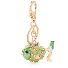 Handbag Buckle Charms Accessories Green Fish Dog Keyrings Key Chains HK111