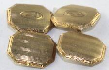 1920'S ANTIQUE ART DECO HAYWARD GOLD FILLED LETTER INITIAL C CUFFLINKS