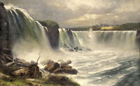 "Dream-art Oil painting Gilbert Munger - Great landscape Niagara Falls 24""x36"""