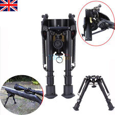 "6""-9"" Adjustable Bipod Legs Slings Swivel Mount for Sniper Airsoft Rifle Hunting"