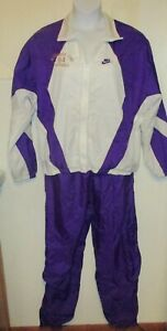 Vintage Windbreaker Nike Large L University Northern Iowa purple pants set j204