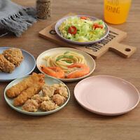 5pcs Wheat Straw Plates Eco-Friendly Simple Food Snack Dishes Safe Dinnerware