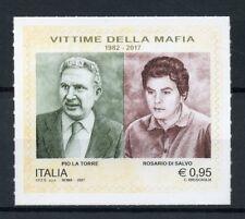 Italy 2017 MNH Mafia Victims Pio La Torre Rosario Di Salvo 1v S/A Set Stamps