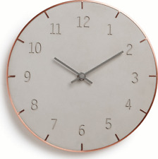 New - Umbra Piatto Clock with Copper Trim