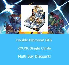 DIGIMON CARD GAME DOUBLE DIAMOND - BT6 - SINGLE CARDS C/U/R - BUY 4 = 50% OFF!