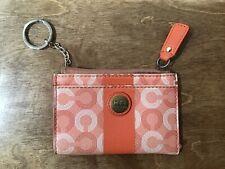Coach Waverly Coin Purse Case Round Ivory Pink Vintage