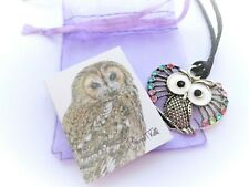 LARGE QUIRKY OWL PENDANT NECKLACE ON ADJUSTABLE LONG CORD - Cool Funky Jewellery