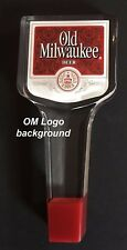 Old Milwaukee Beer Tap Handles Knobs Acrylic NOS OM Logo background LAST ONE!