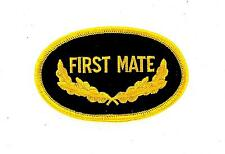 Patch patches embroidered iron on backpack first mate military us navy yacht