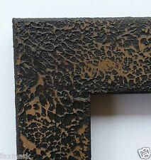 "Primitive-finish Picture Frame - Repurposed - 8"" x 10"" size...Black w/Brown..."