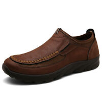 Big Size Casual Shoes For Men Moccasin Driving Slip On Loafers Bullhide Leather