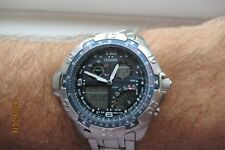 Citizen PROMASTER WINGMAN Temp C720 Divers 100m World Time Chrono 2 allarmi G/con