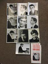 Ivan Davis Promotional Photograph Lot 8x10 Pianist Classical Piano 1960's