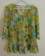 Liberty of London for Target Susanna Top Floral Yellow Green Sunflowers Large