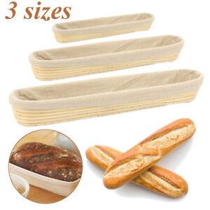 Long Banneton Brotform Dough Bread Proofing Proving Rattan Dough Bread Basket