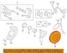 TOYOTA OEM 01-07 Highlander Front Brake-Disc Rotor 4351248031