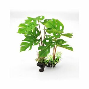"BioBubble Decorative Split Leaf Green 6"" x 3"" x 12"""