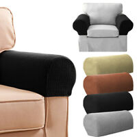 2Pcs Removable Chair Sofa Armrest Covers Stretch Set Arm Protectors Couch Cover