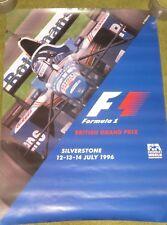 Original BRITISH GRAND PRIX poster-SILVERSTONE 1996-Damon Hill