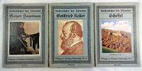 🗝️  Antik - 3x Volksbücher der Literatur - Velhagen Klasing - Keller Scheffel