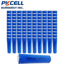 100x Wholesale PKCELL 18650 Rechargeable Li-ion Battery 3.7V Genuine 2200mAh