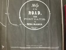 Road from Fort Davis to Pena Blanca 1879 topo archive print 2 pieces G 181213