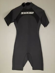 Dunes Size Mens Small 3/2 mm Shorty Surfing Wetsuit Spring Suit Shirt Sleeve