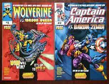 Wolverine/Brood Queen #1 & Capt America VS Baron Zemo #2 1999 Marvel Game NM LOT