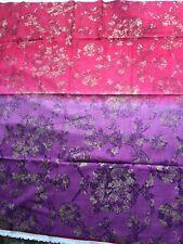 140cm DESIGNERS GUILD Sukumala linen blend curtain fabric remnant    Purple/Red