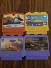 V-TECH V-SMILE V-MOTION LOT OF 4 Games Ratatouille KUNG FU PANDA CARS PC Pal