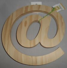 "At Symbol Letter-Solid Wood 10""x10""-Free Standing- Decorative @ Sign Character-2"