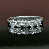 Five Stone Ring 2.51 Ct Diamond Engagement Wedding Band Ring 14k White Gold Over