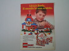 advertising Pubblicità 1985 LEGO BASIC