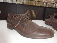 GEOX RESPIRA TEX Herren Business Schuhe Leder Braun Gr.45 f.Neuw