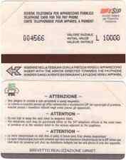 SCHEDA  NUOVA   PROTOTIPI E PROVE URMET BIANCA  6 CIFRE  C&C  1078  GOLDEN P 64