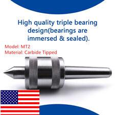 1pc Mt2 Live Center Morse Taper Triple Bearing 2 Mt 0002 For High Speed Turnin