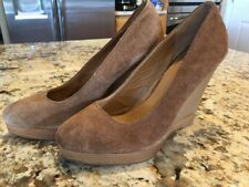 Michael Kors Suede Leather Tan / Brown Women's Wedge Heels Shoes Size 7