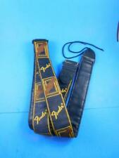 Vintage Fender Guitar Shoulder Strap Yellow Brown Black