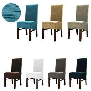 Velvet Dining Chair Covers Waterproof Stretch Protective Slipcover Home Decor