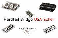 Hardtail Bridge Bass 4 String Electric Guitar 6,7, or 8 String Black Chrome Gold