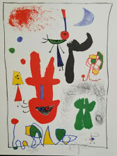 JOAN MIRO HAND SIGNED AND NUMBERED 1959 LITHOGRAPH  + NO RESERVE !!