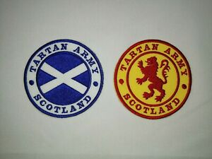 TARTAN ARMY - SCOTLAND - EMBROIDERED PATCH - 2 NEW DESIGNS