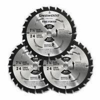 "3PCS Circular Saw Blade 7-1/4"" 5/8"" 1 pc 24T Table Miter Cutting for DeWalt"