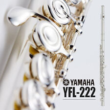 YAMAHA YFL-222 YFL 222 Student Flute Closed Hole CY Cut Nickel Silver Case