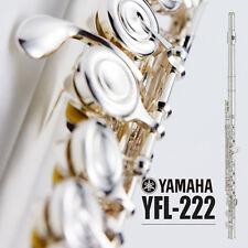 YAMAHA YFL-222 YFL 222 Student Flute Closed Hole CY Cut Nickel Silver Case