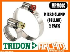 TRIDON MPM00C - MICRO HOSE CLAMP 2 PACK 11MM-16MM MULTIPURPOSE PART STAINLESS