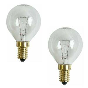 Backofenlampe E14 300° 40W Klar Tropfenform 2 Stück Backofen Lampe