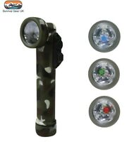 KOMBAT 6 LED 4 COLOUR ANGLE TORCH & FLASHLIGHT COMO WITH 2X AA BATTERIES