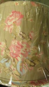 Simply Shabby Chic Lamp Shade's Rachel Ashwell Floral Castle Ruffled Taupe Roses