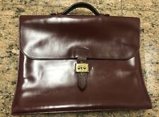 HERMES Sac A Depeche Burgundy Leather Briefcase Attaché